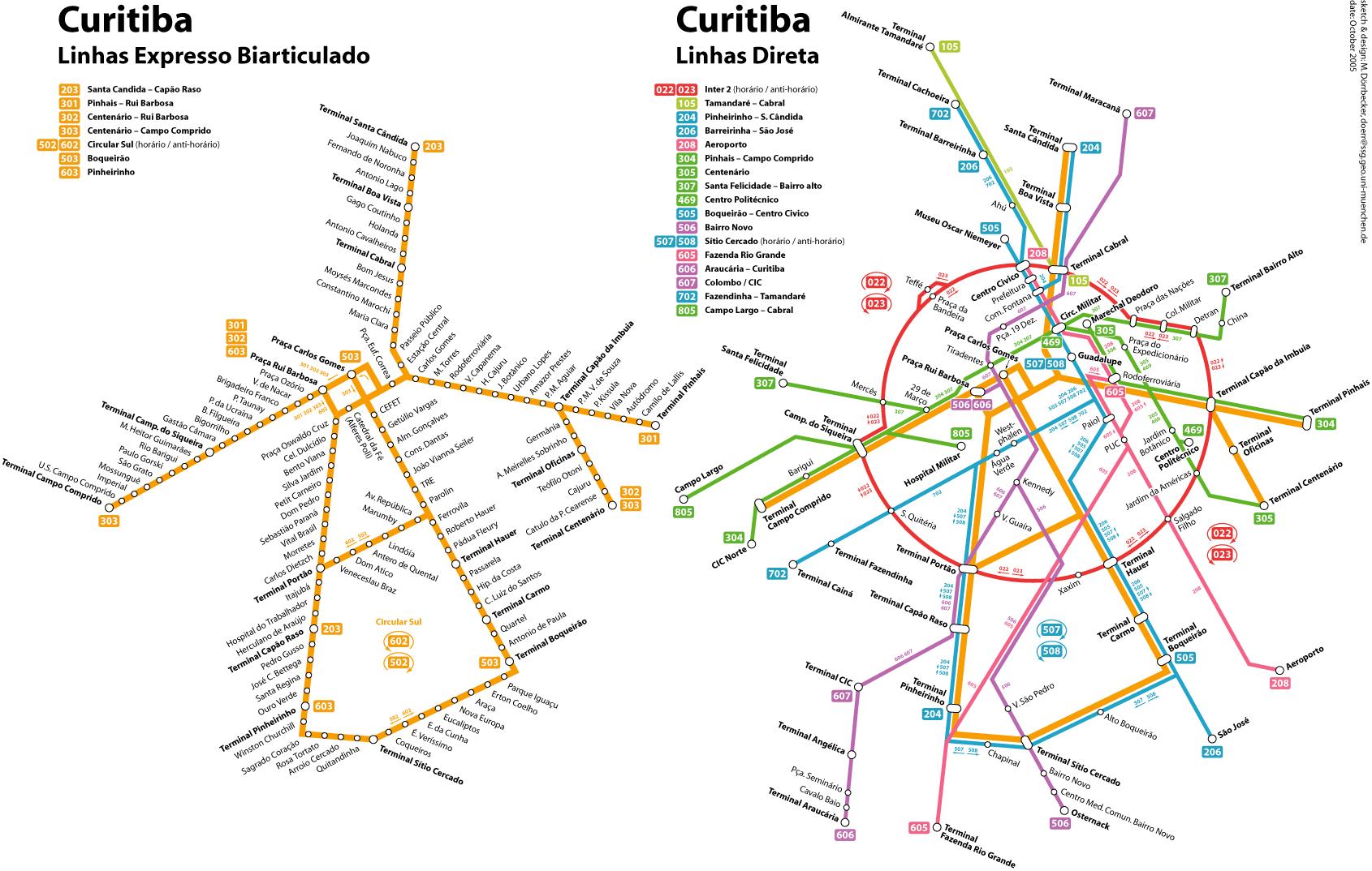 Mapa Mundi - Curitiba