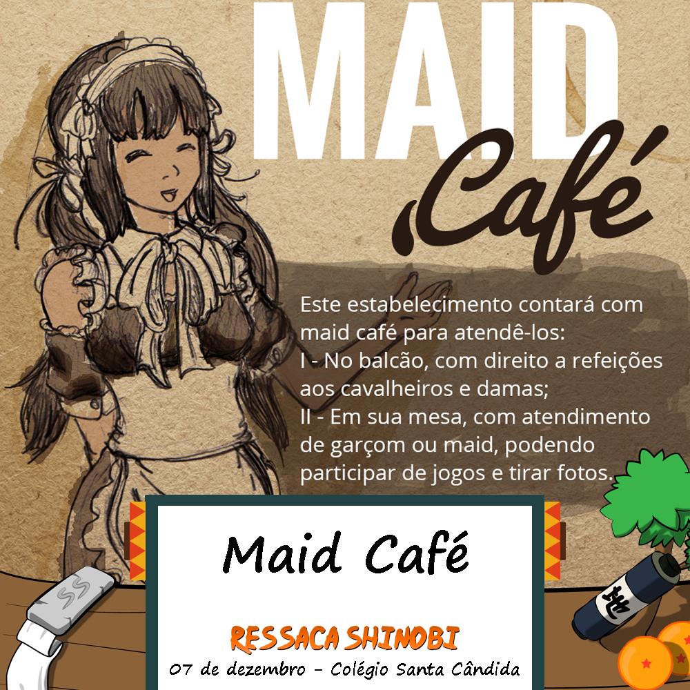 Ressaca Shinobi terá Maid Café e a Dubladora do Naruto