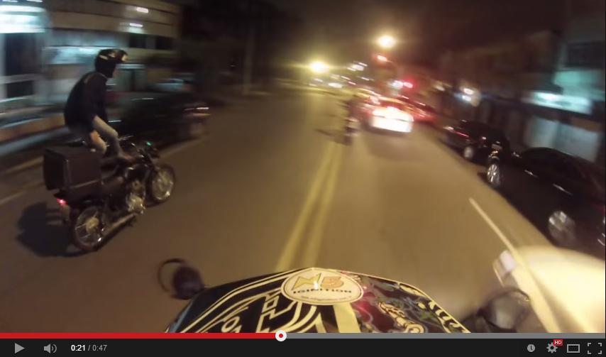 O Motoboy mais radical é de Curitiba