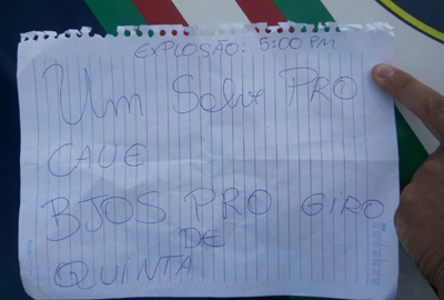 Pegadinha mobiliza Esquadrão Antibombas e o BOPE em Curitiba
